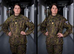 Anna Lotta, lieutenant 0700 and 1600. From the series Women at Work, 2009 © Joel Gräfnings