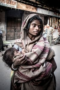 Gypsy mother and baby, Rajasthan, India