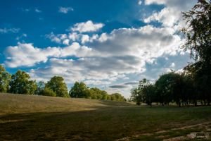 Park and clouds