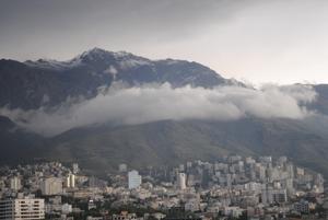 A cloud on Tehran