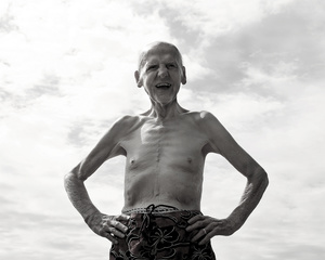 """""""Laugh, Swim, Swear"""" (From the series entitled, """"The Last Picture Show"""" documenting the last year of my father's life as he suffered from progressive dementia.)"""