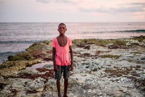 Boy by the sea. Haiti