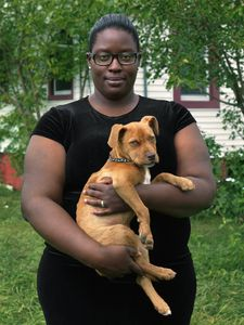 Tola with Her New Puppy, Poletown, Eastside, Detroit 2013