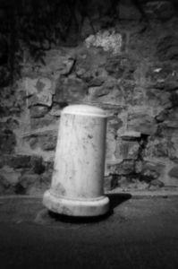 Paletto/Bollard, Via Roma, Apricale 2013