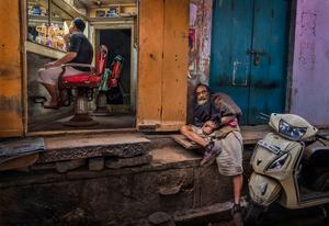 'Barber Shop, Varanasi'