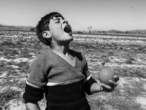 Young Syrian refugee in Idomeni camp in Greece.