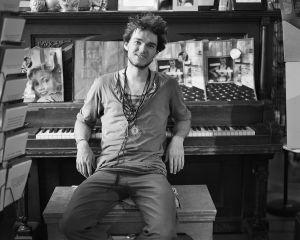 Noah at the Piano, Iconoclast Books, Ketchum, Idaho