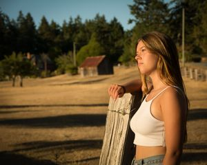 Girl on Ranch Salt Spring Island