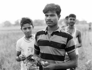 Ranjan followed us into the fields.  Jharkhand 2017