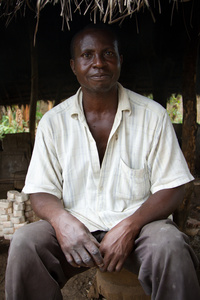 Moses, Bead Maker. Krobo, Ghana