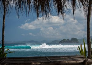 Pantai Mawi, Lombok, Indonesia.