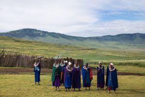 Acercamientos de mujer Maasai