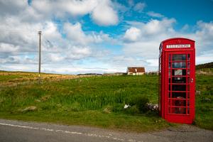 Telephone box, Isle of Skye, Scotland