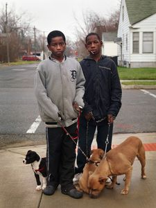 Dayvon and Christian Selling Puppies, Eastside, Detroit 2011