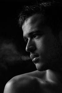 After... sexy nude man smoking