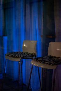 empty chair blue