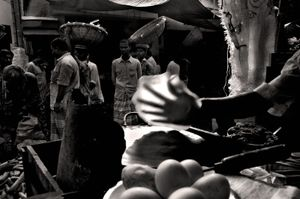 At dawn, chapatti is made for laborers. Shyambazar, 2005. © Munem Wasif