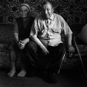 Ivan Yegorovich and his wife Nina. The Selkups.                        Novoseltsevo. Tomsk region. Russia. 2008.