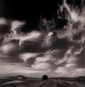 Moonlit Cirrus clouds | Byway to Barbury Castle | Wiltshire England | September 2016