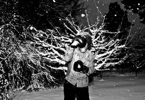 Snow, snow. Self portrait.