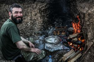 Ruslan Cooking Steaks
