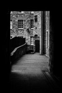 The doorway.