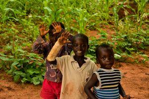 Niños en Mukuni Village