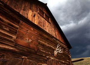 Colorado Barn with Antlers