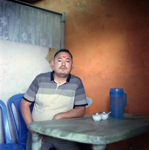 """Damber, in his restaurant. From the series """"Homebodies""""."""