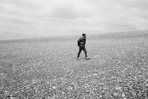 Pebble beach, walking