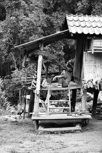 Thai Farmer and Baby