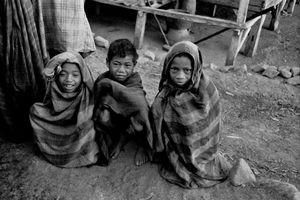Three young village boys, 1973