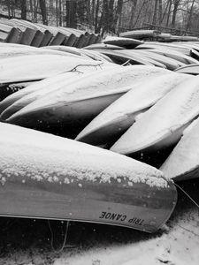 Canoes & Rowboats, Bushy Hill Pond, 12 30 17