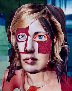 Woman with a Blue Eye, 2011 © Daniel Gordon