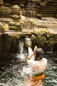 Taking a holy bath