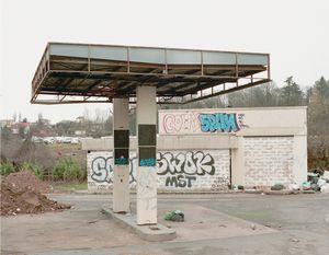 """Station #20, from """"Twentysix Abandoned Gasoline Stations"""" © Eric Tabuchi"""