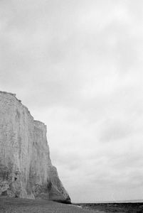 White cliff by the sea