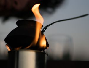 Real fire for real coffee