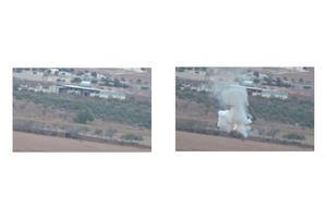 ISIS Tank Destroyed in Kobani by YPG Kurdish Fighter - Syria