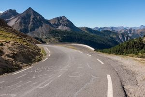 Northern approach to the Col D'Izoard, Hautes-Alpes, France