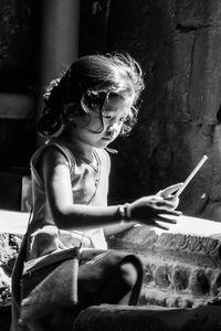 Cambodian reading child