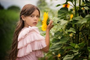 Princess and her sunflower