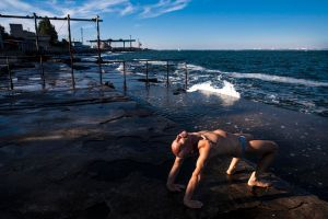 Yoga at the Odessa harbour