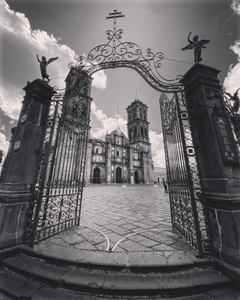 The gate to Puebla's Cathedral