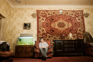 A living room interior of a wealthy Tajik family.