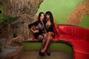 Lady and Laura, at the Las Vegas Club, Havana © Mariette Allen