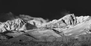 Mt Humphrey Moonset
