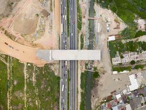 Houses are demolished to accommodate the BRT Transolimpica, a new rapid bus transit line, Deodoro, 2015