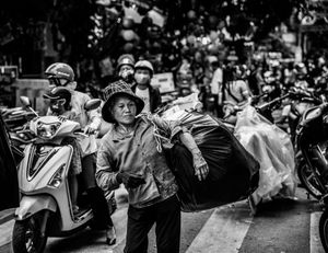 Rubbish collector, Hanoi Vietnam
