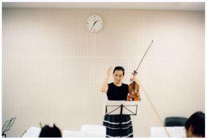 Preparing to perform Schubert's Unfinished Symphony / Urayasu Jr. Orchestra, 2013